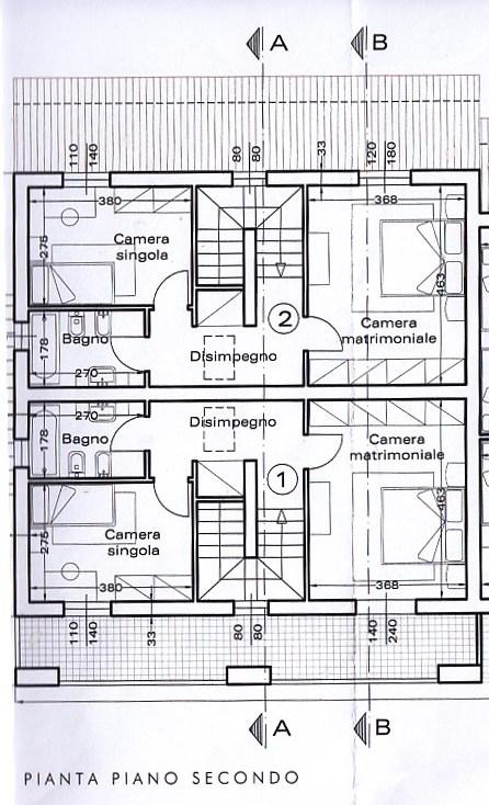 Planimetria 3/4 per rif. 1312