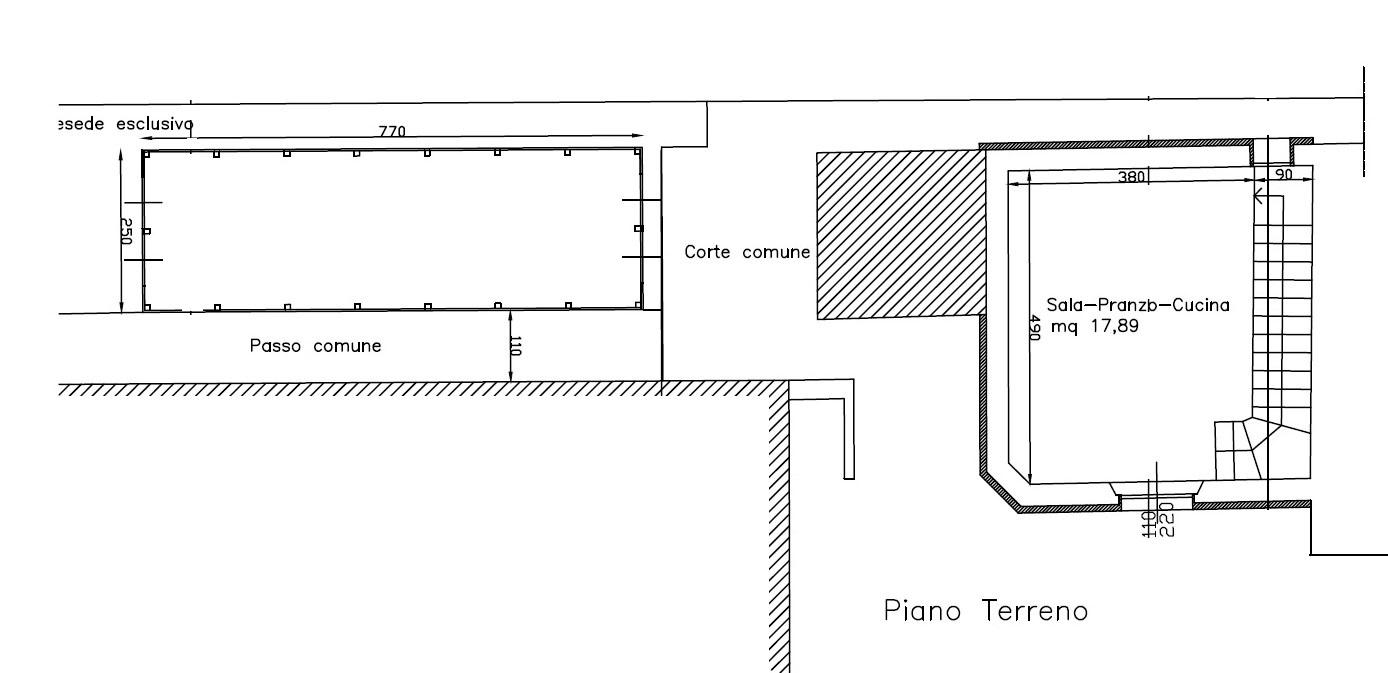 Planimetria 1/2 per rif. 757