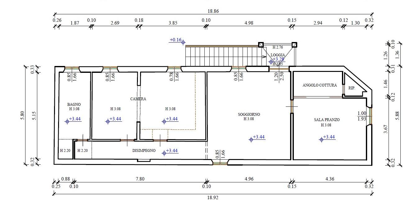 Planimetria 2/2 per rif. 760