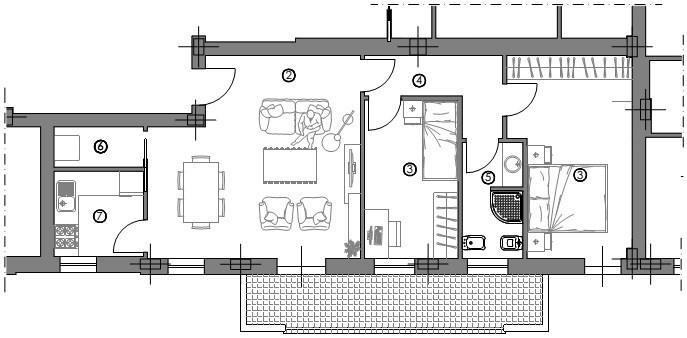 Appartamento in vendita, rif. 01345/1
