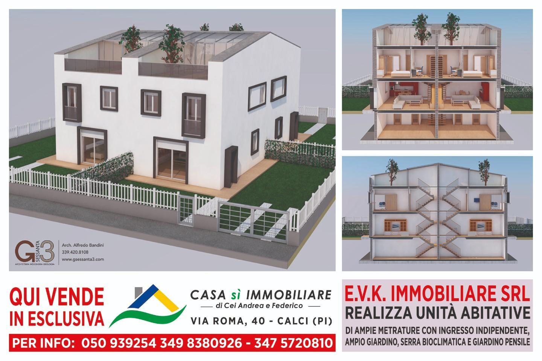 Villetta quadrifamiliare in vendita a Calci (PI)
