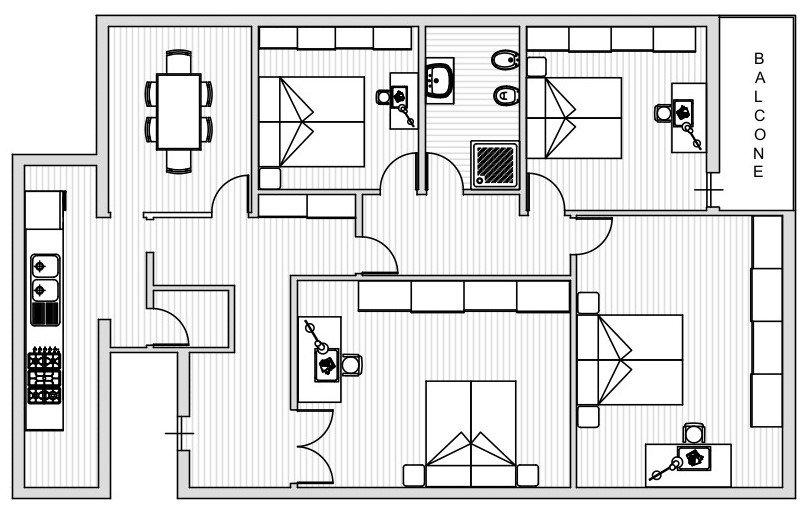Appartamento in affitto, rif. R002