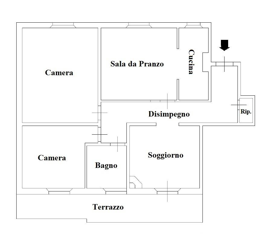 Attico in affitto, rif. F131