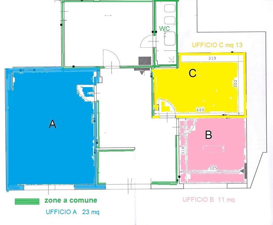 Ufficio in affitto commerciale, rif. MA2963