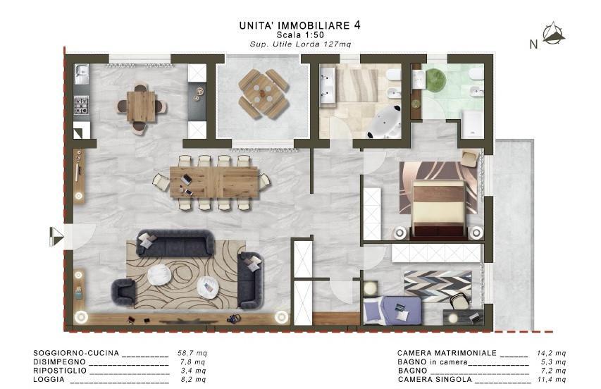Appartamento in vendita - Lugnano, Cascina