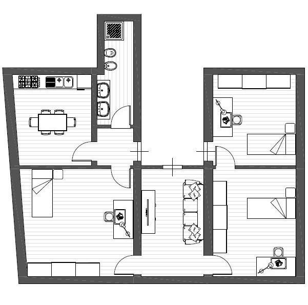 Appartamento in affitto, rif. R005