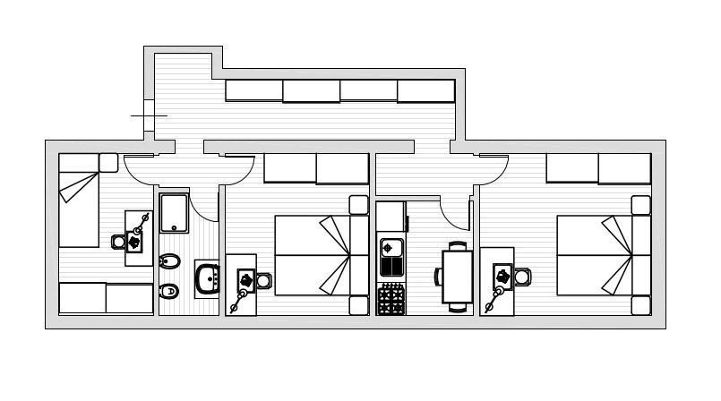 Appartamento in affitto, rif. R008