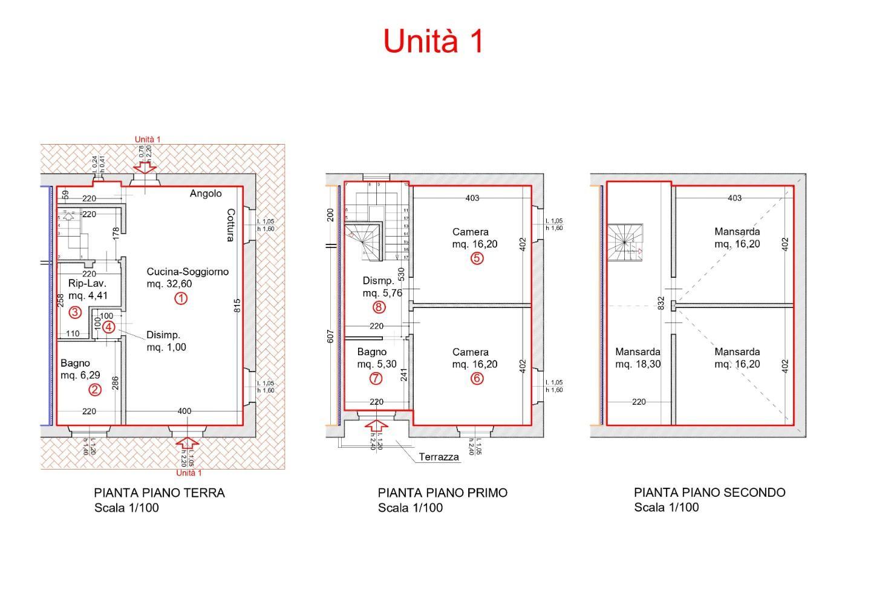 Villetta quadrifamiliare in vendita a Porcari (LU)