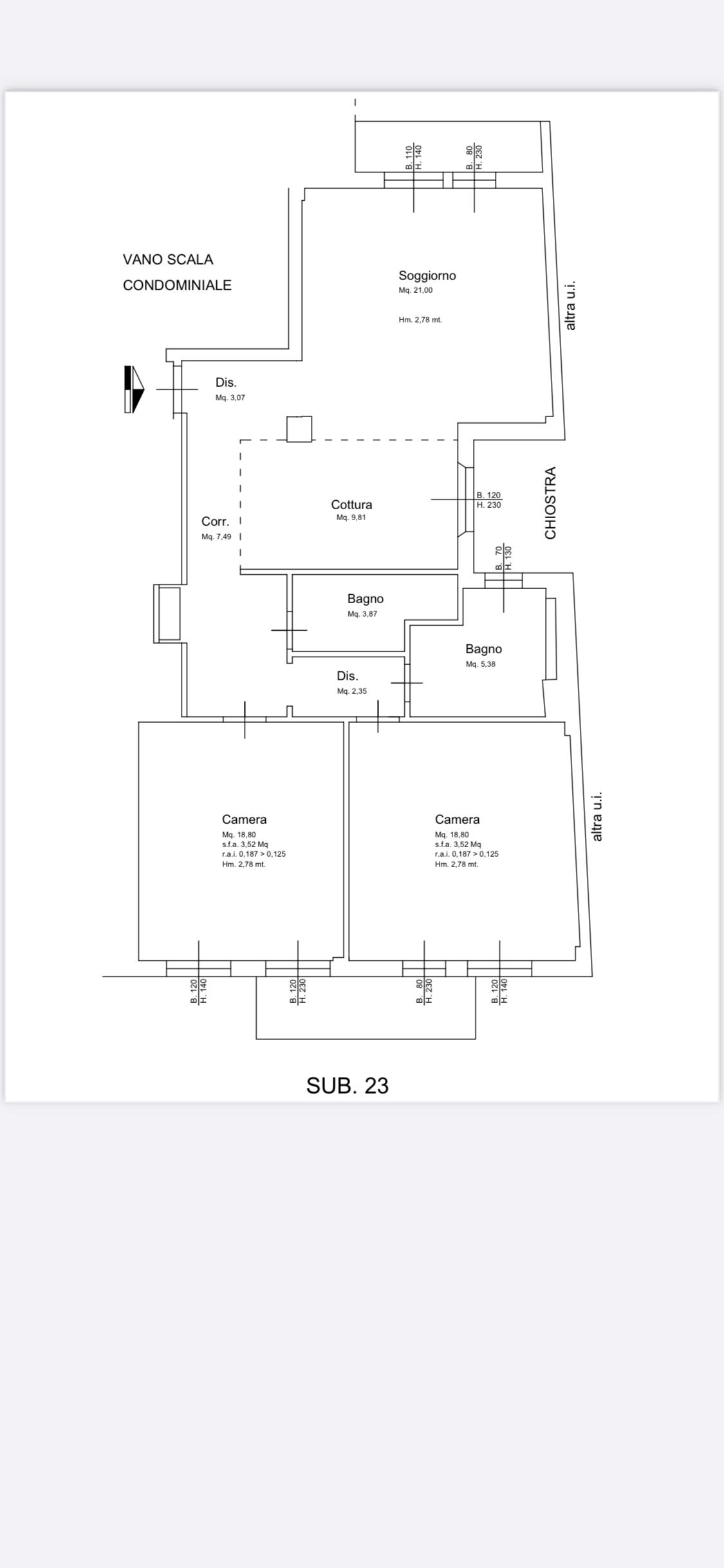 Appartamento in vendita, rif. 213v
