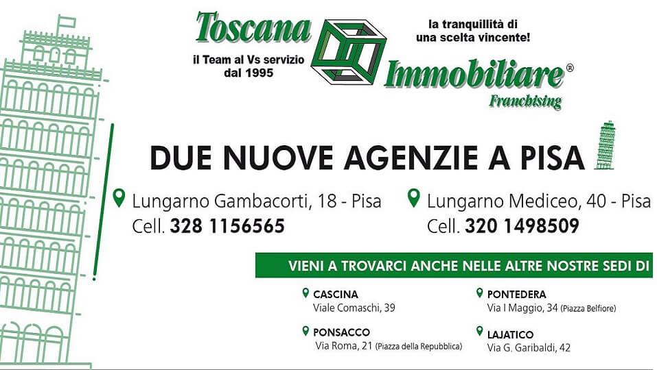 Toscana Immobiliare sbarca a Pisa con due nuove Agenzie!