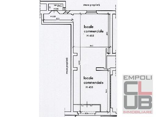 Negozio / Locale in affitto a Empoli, 2 locali, prezzo € 1.250 | CambioCasa.it
