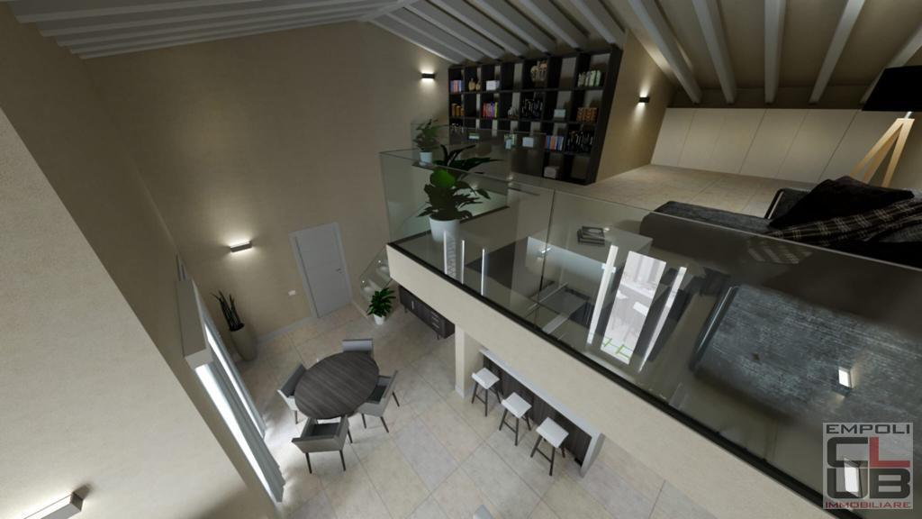 Angular terraced house in Empoli
