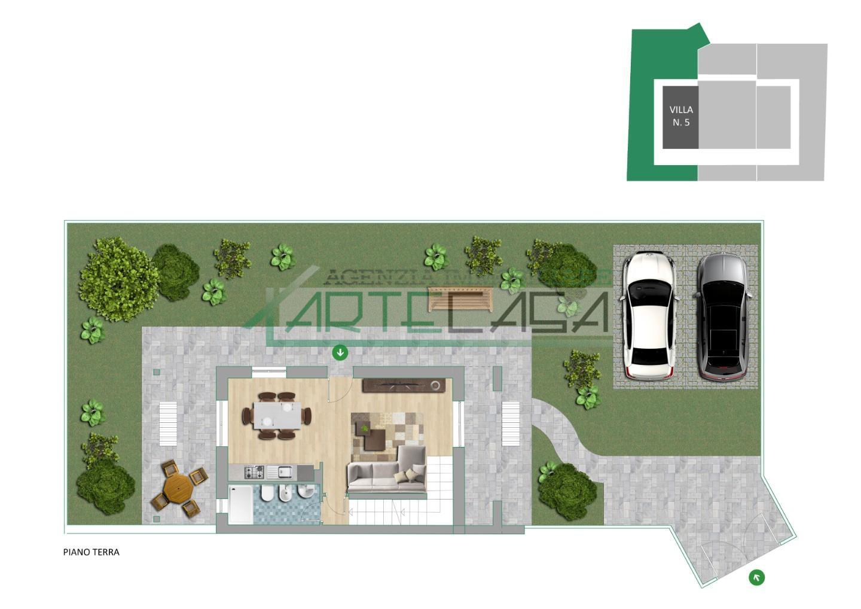 Villetta a schiera angolare in vendita, rif. AC6877