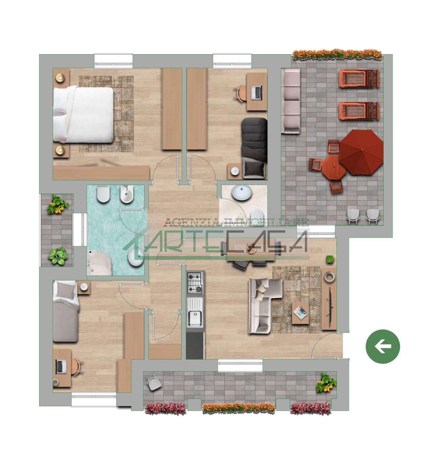 Appartamento in vendita, rif. AC6945
