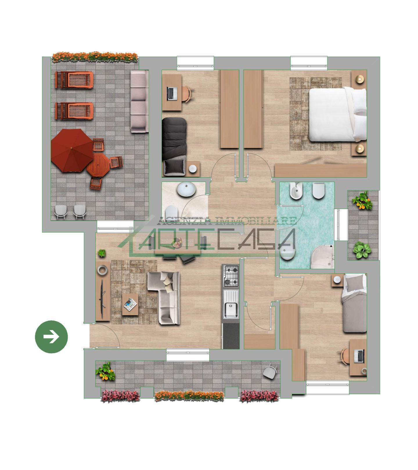 Appartamento in vendita, rif. AC6947