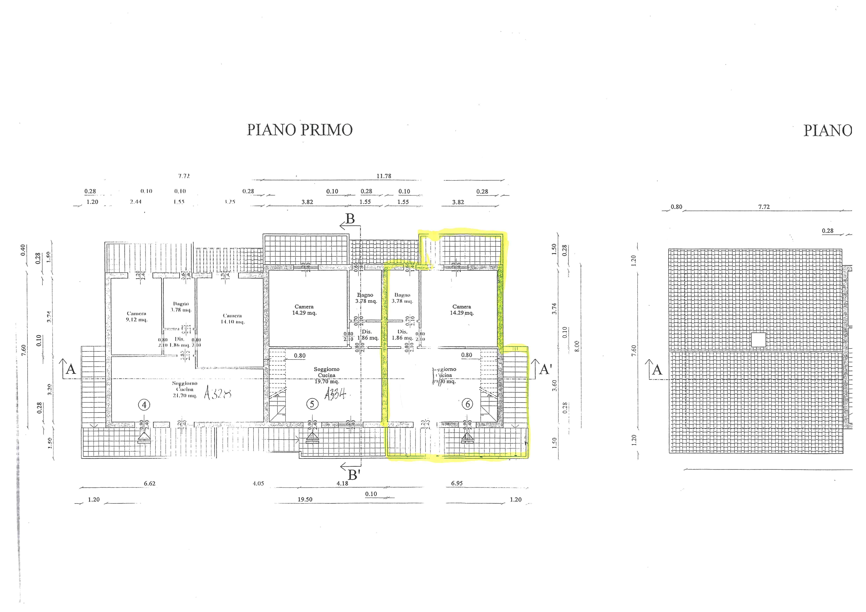 Planimetria 1/3 per rif. 177