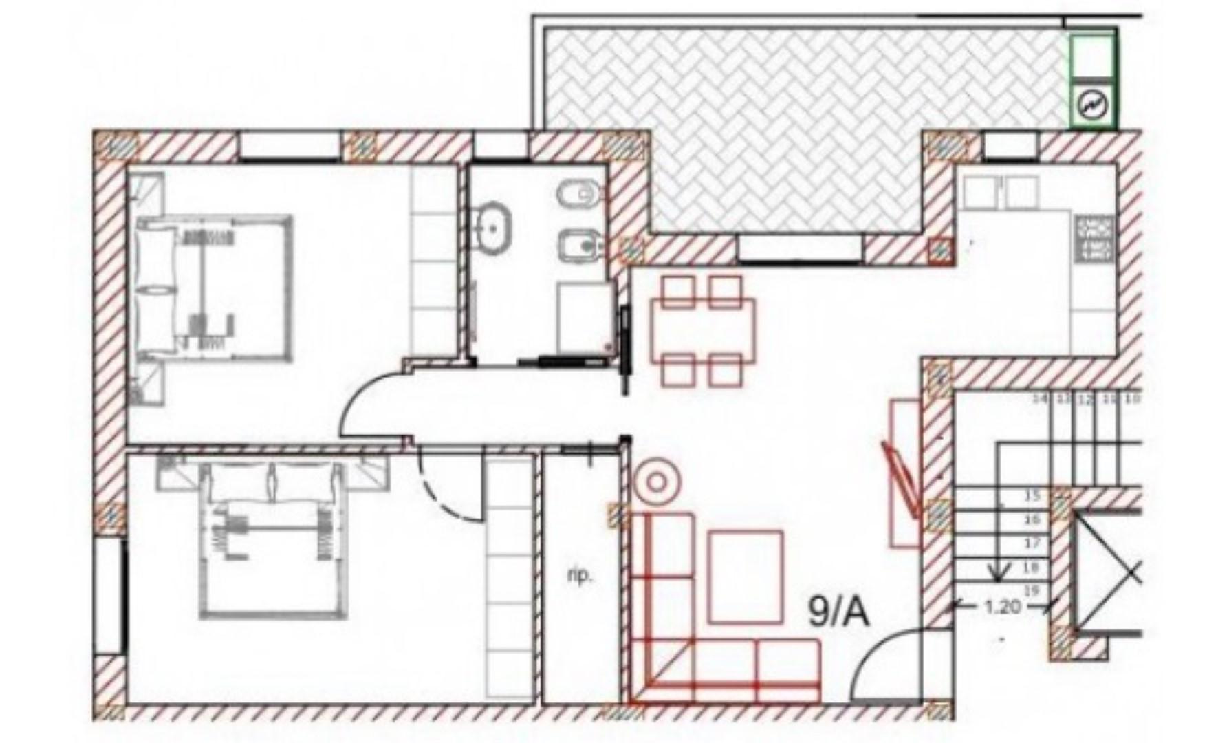 Planimetria 1/1 per rif. SITO50402