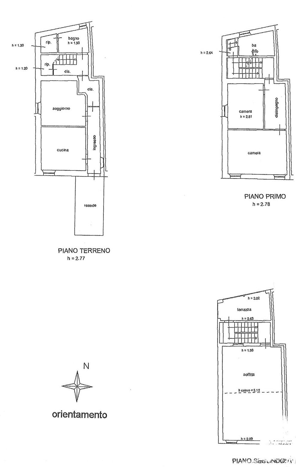 Planimetria 1/1 per rif. TRF CARR 135