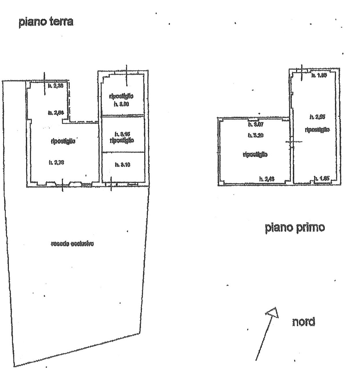 Planimetria 1/1 per rif. CAP S.IND LAMM 80