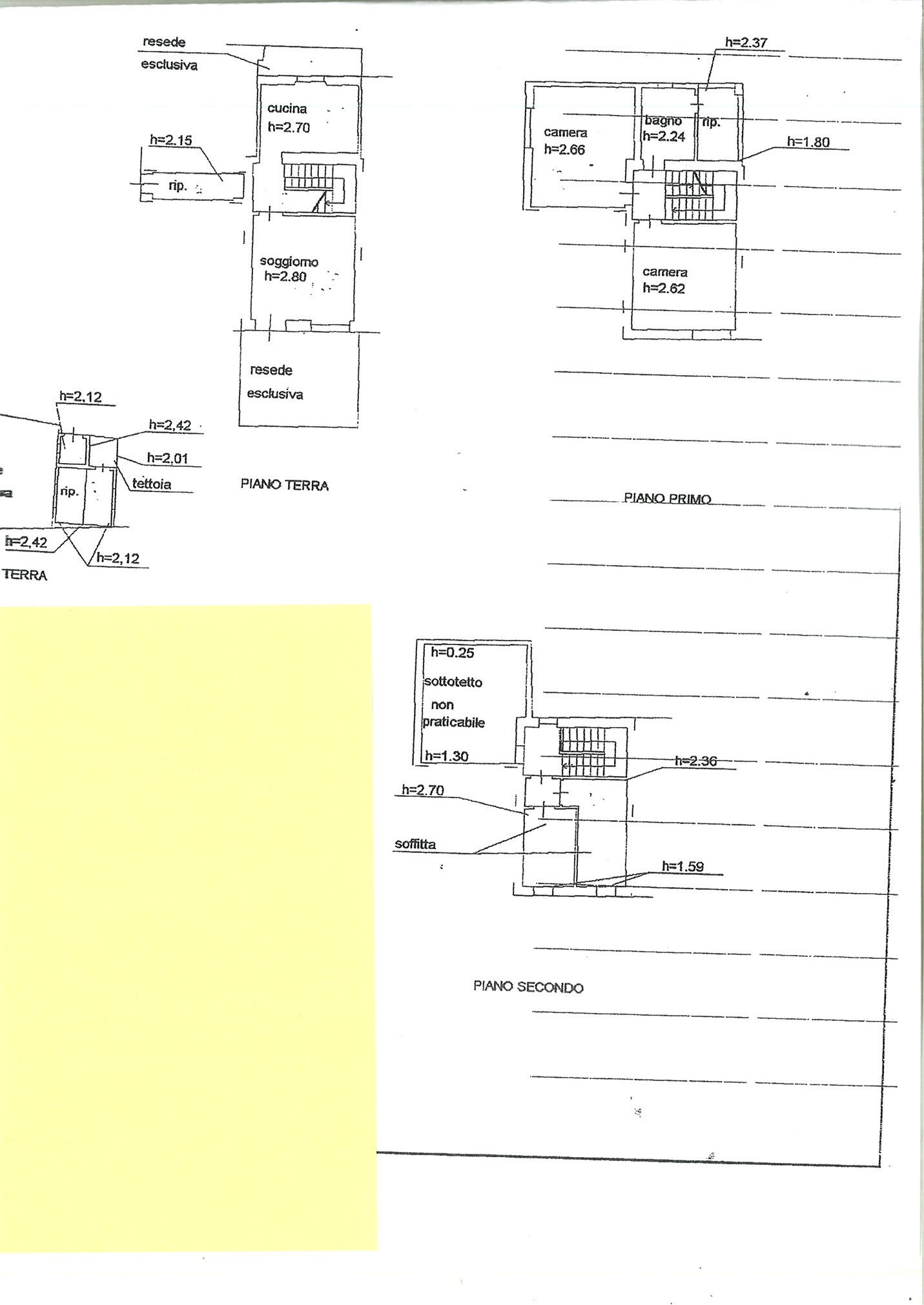 Planimetria 1/3 per rif. TRC SLEO 90