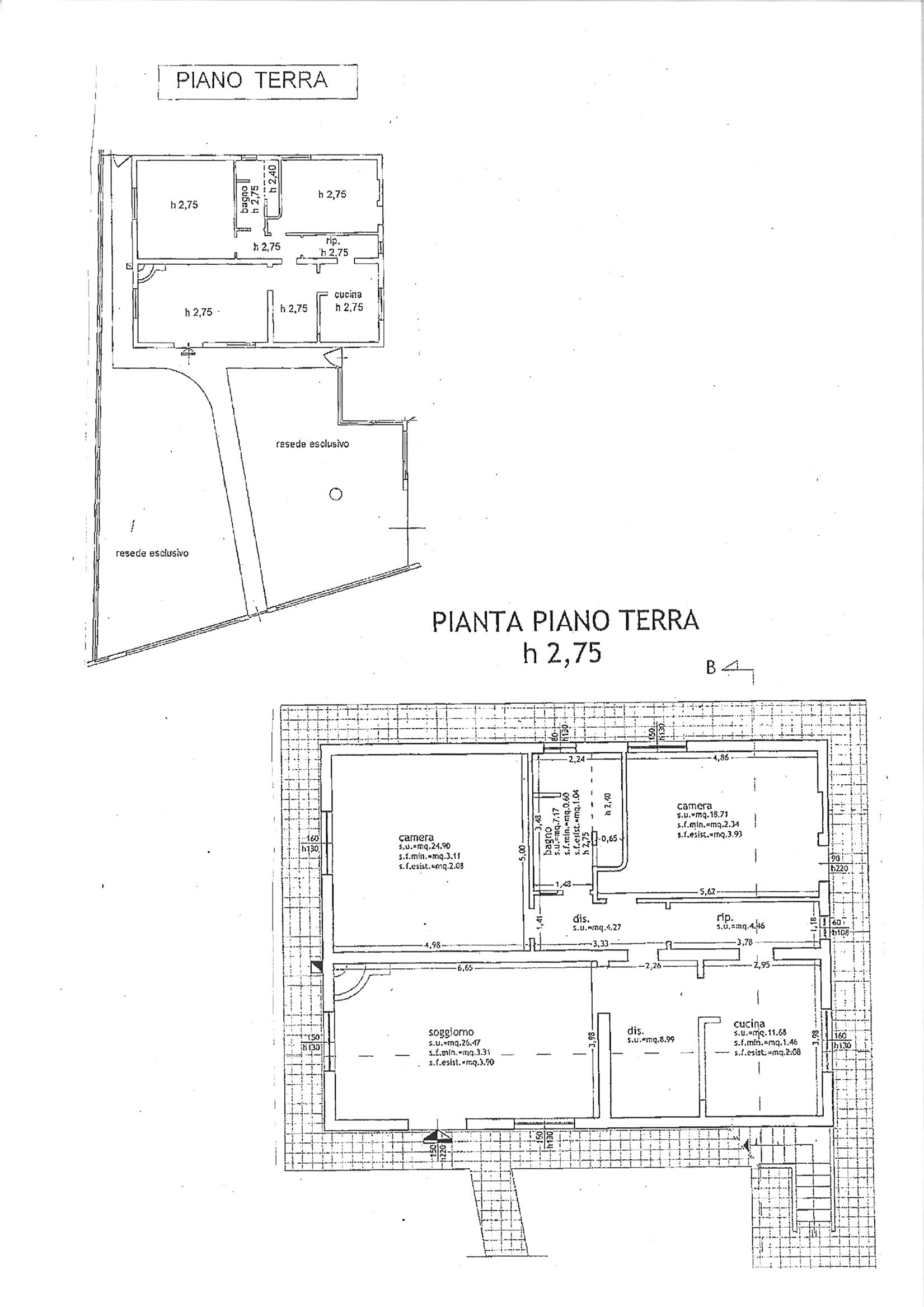 Planimetria 1/1 per rif. AP LUN 215