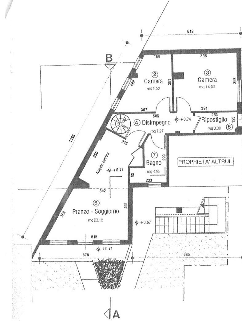 Planimetria 1/2 per rif. AP SEGR 115