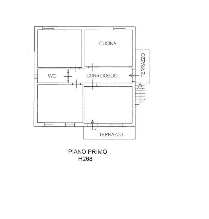 Planimetria 2/2 per rif. CIND POR 190