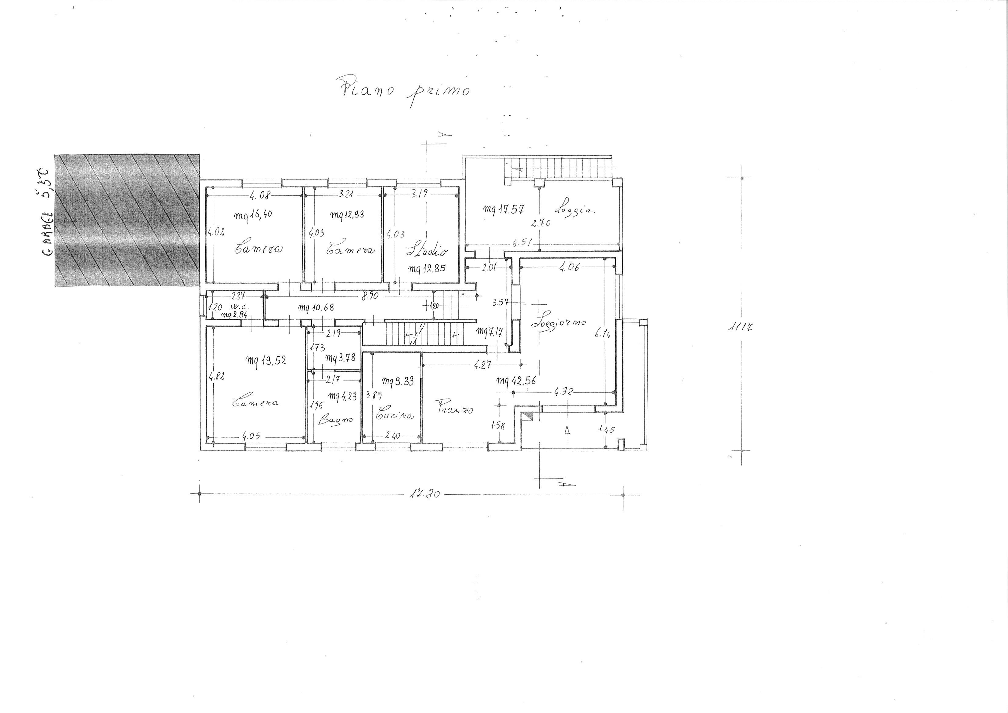 Planimetria 1/1 per rif. ap capa 250