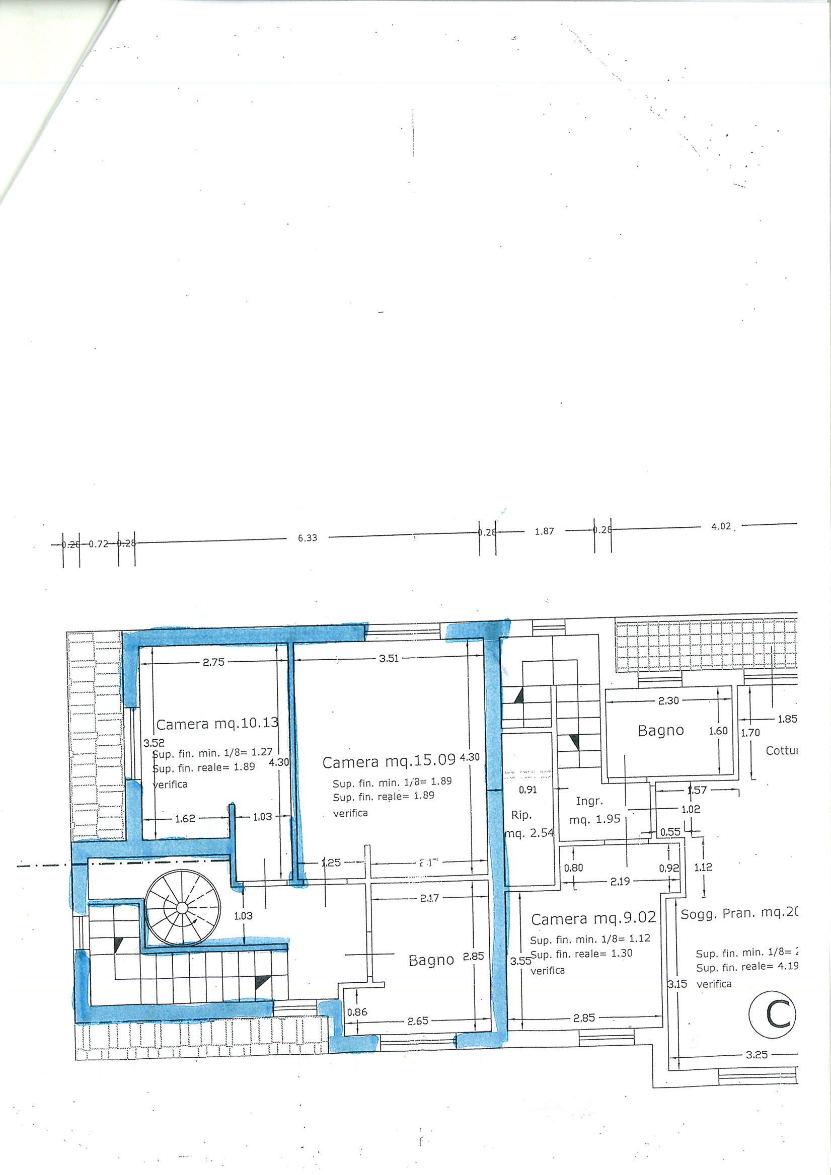 Planimetria 2/2 per rif. vsf badi 230