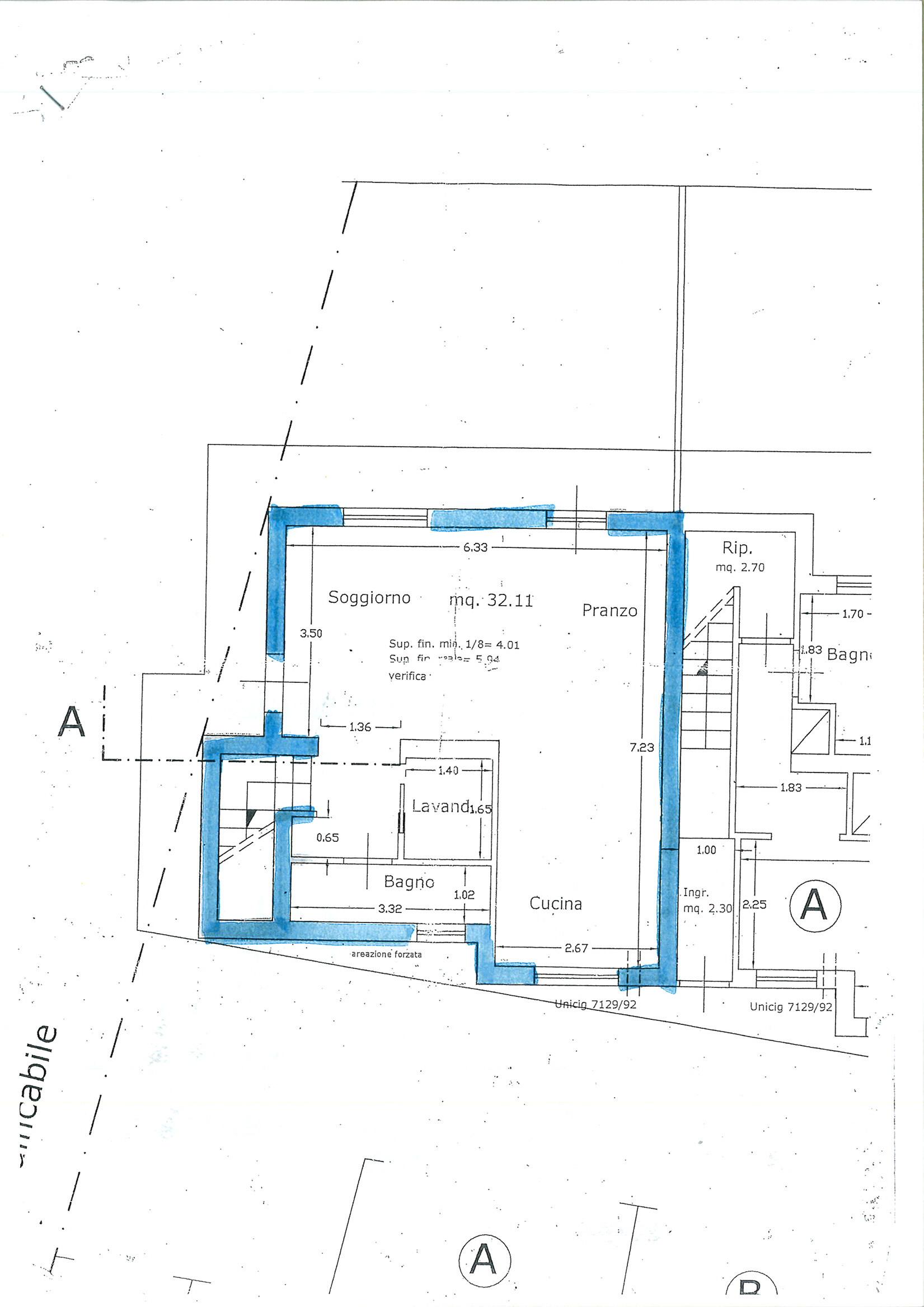 Planimetria 1/2 per rif. vsf badi 230