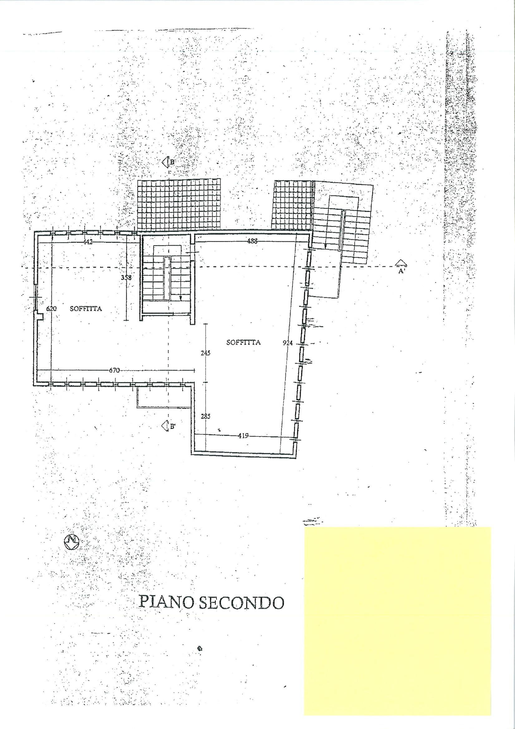 Planimetria 1/3 per rif. ap castel 90