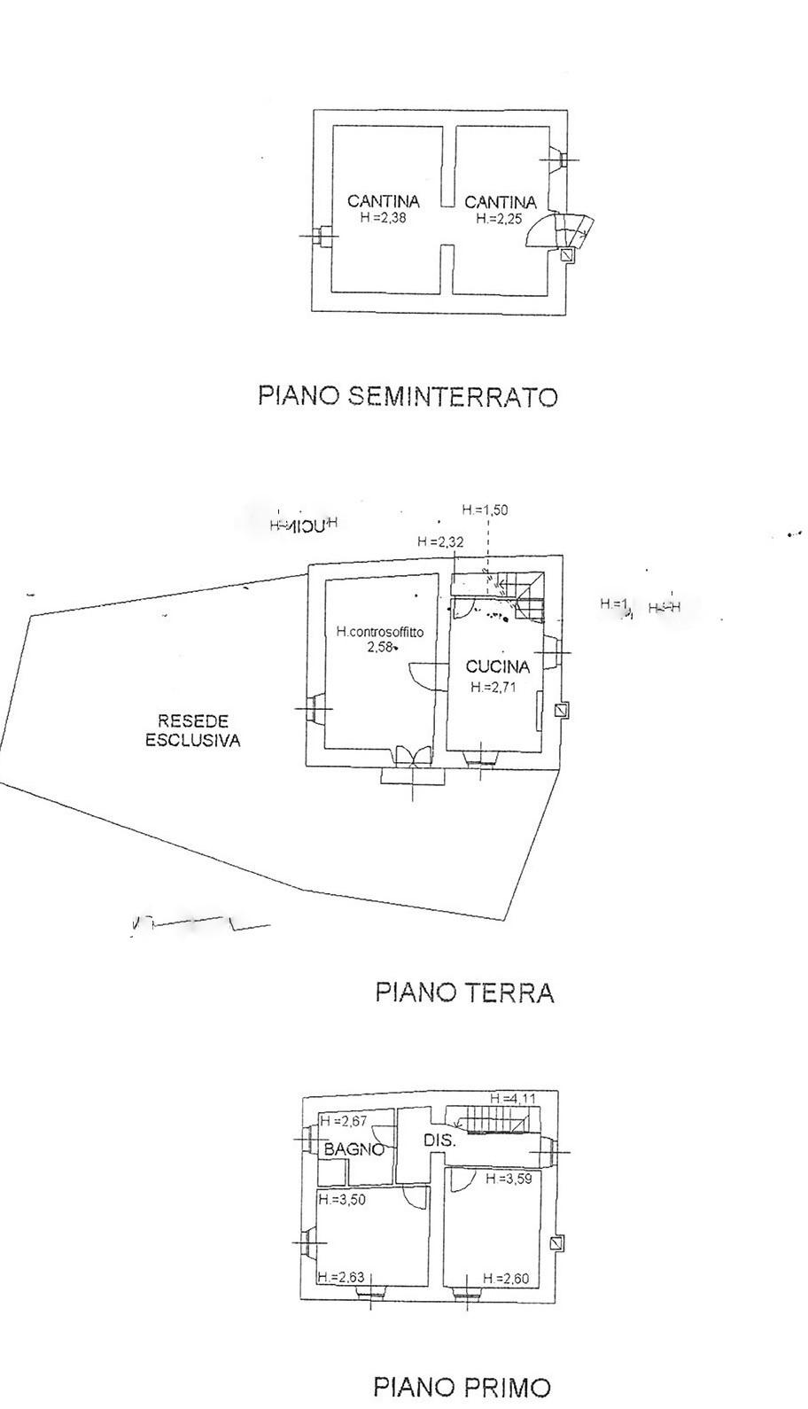 Planimetria 1/1 per rif. trf sandr 100