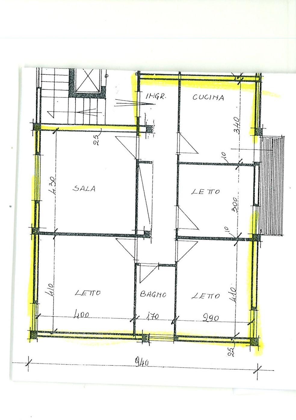 Planimetria 1/1 per rif. app capa 110le