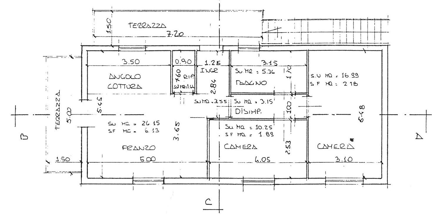 Planimetria 1/1 per rif. ap scas 130