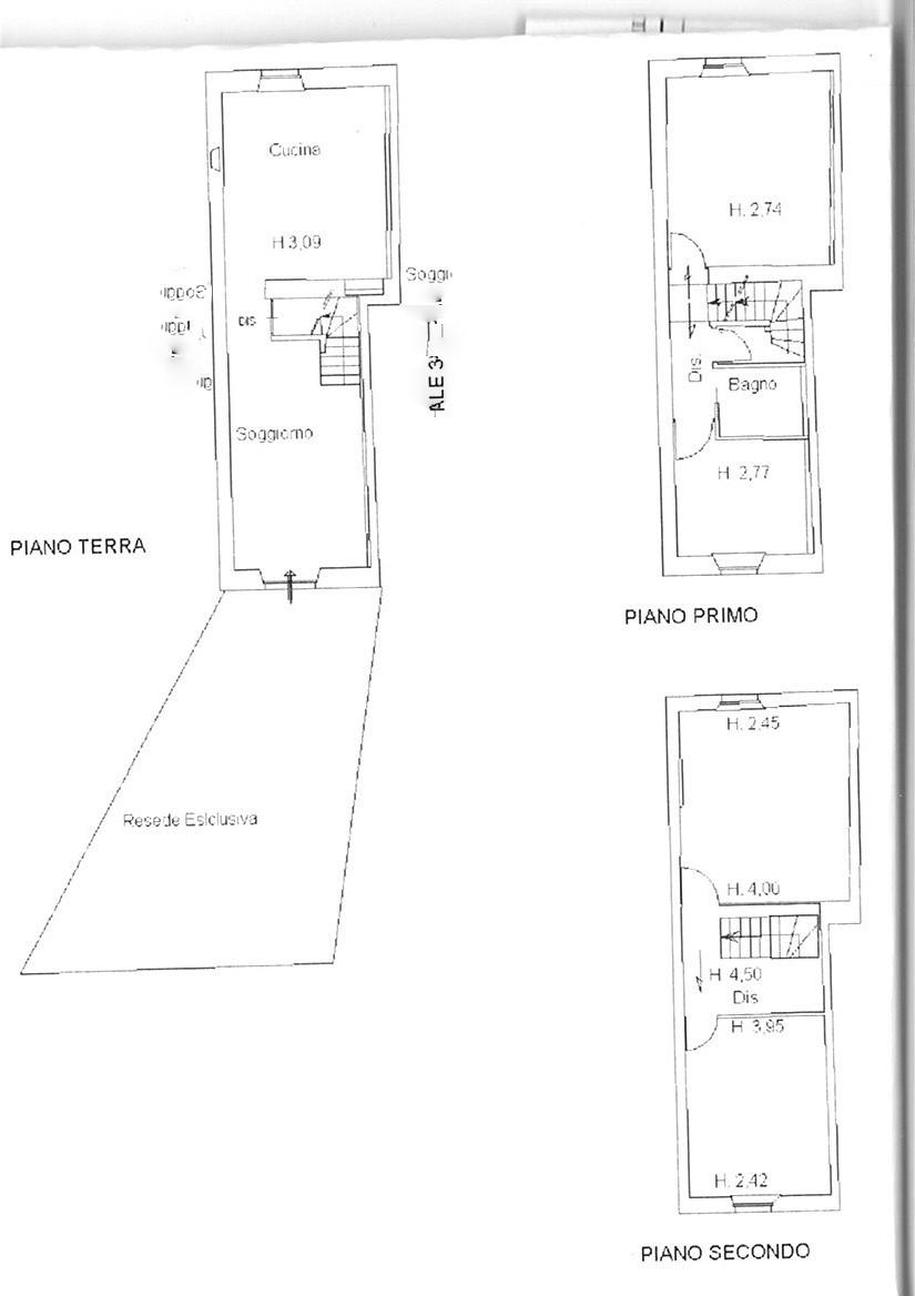 Planimetria 1/1 per rif. trc spvic 140