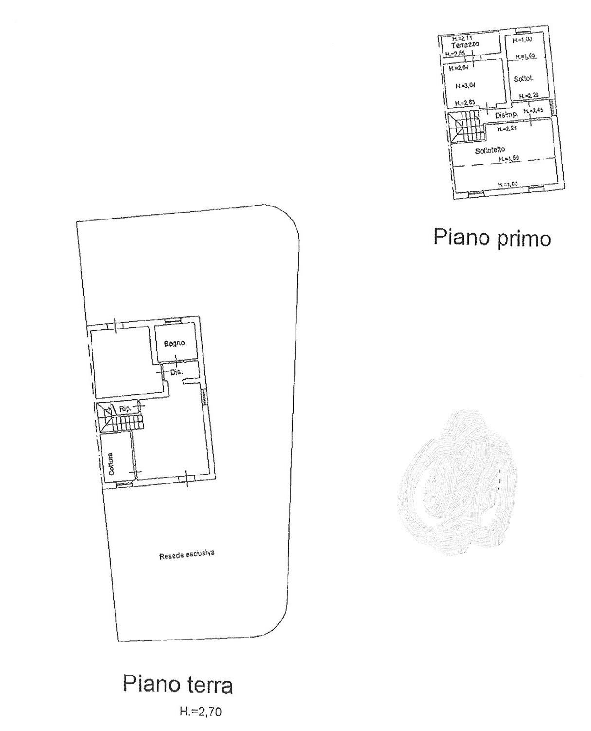 Planimetria 1/2 per rif. vbf picc 230