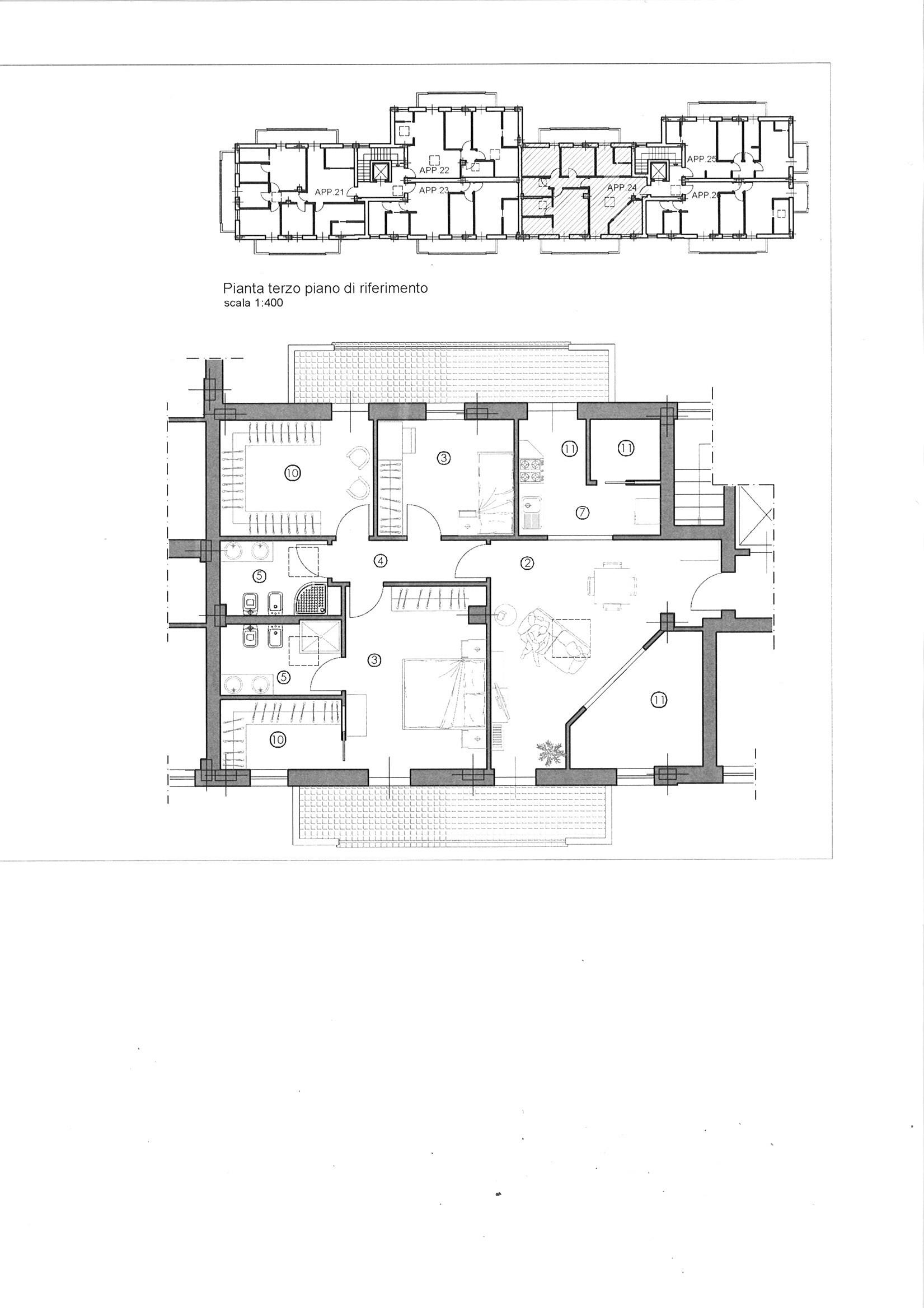 Planimetria 1/1 per rif. ap sconc 320