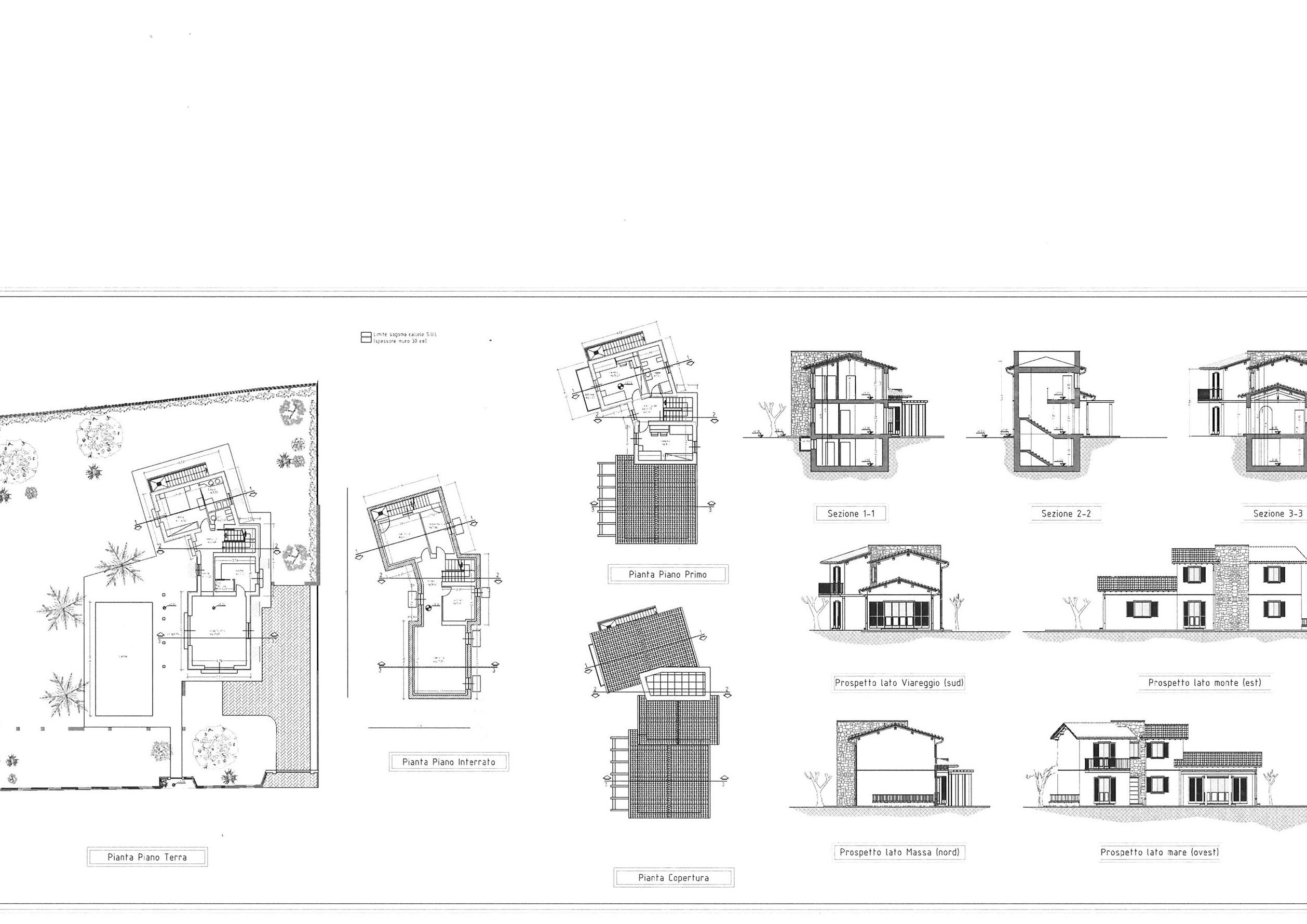 Planimetria 1/2 per rif. vill pietra 1100