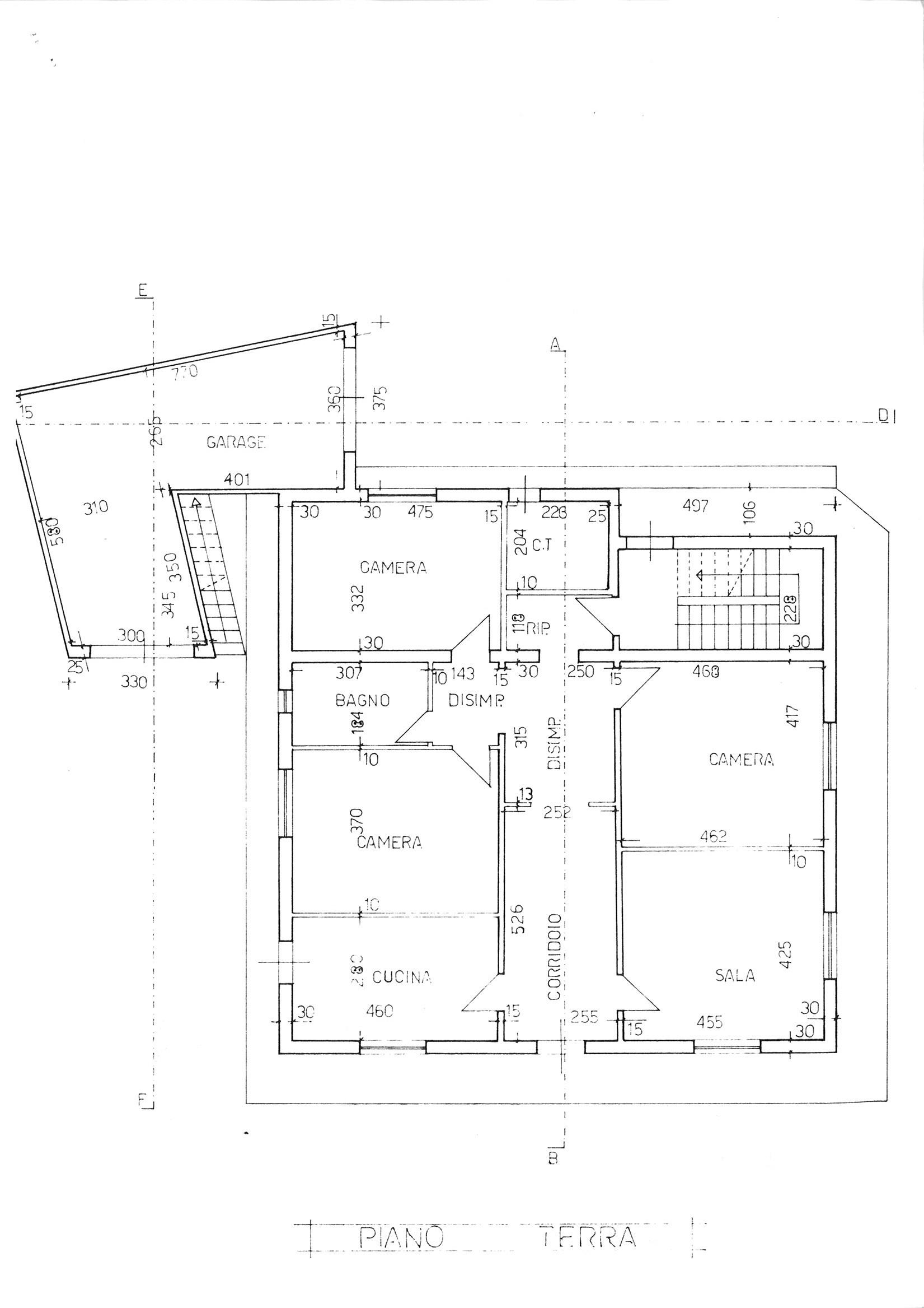 Planimetria 1/2 per rif. cind ssalv 260