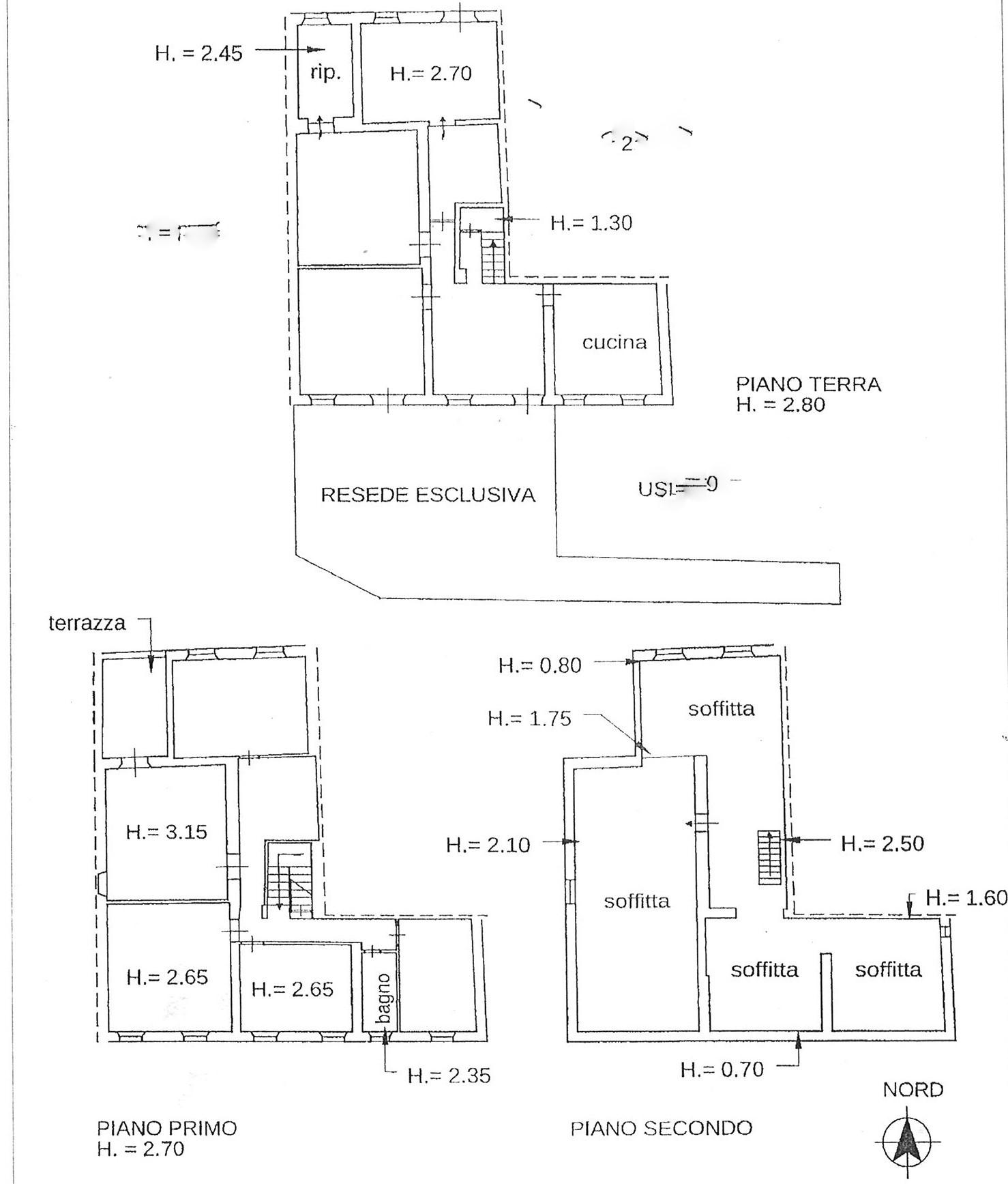 Planimetria 1/1 per rif. trf antr 98
