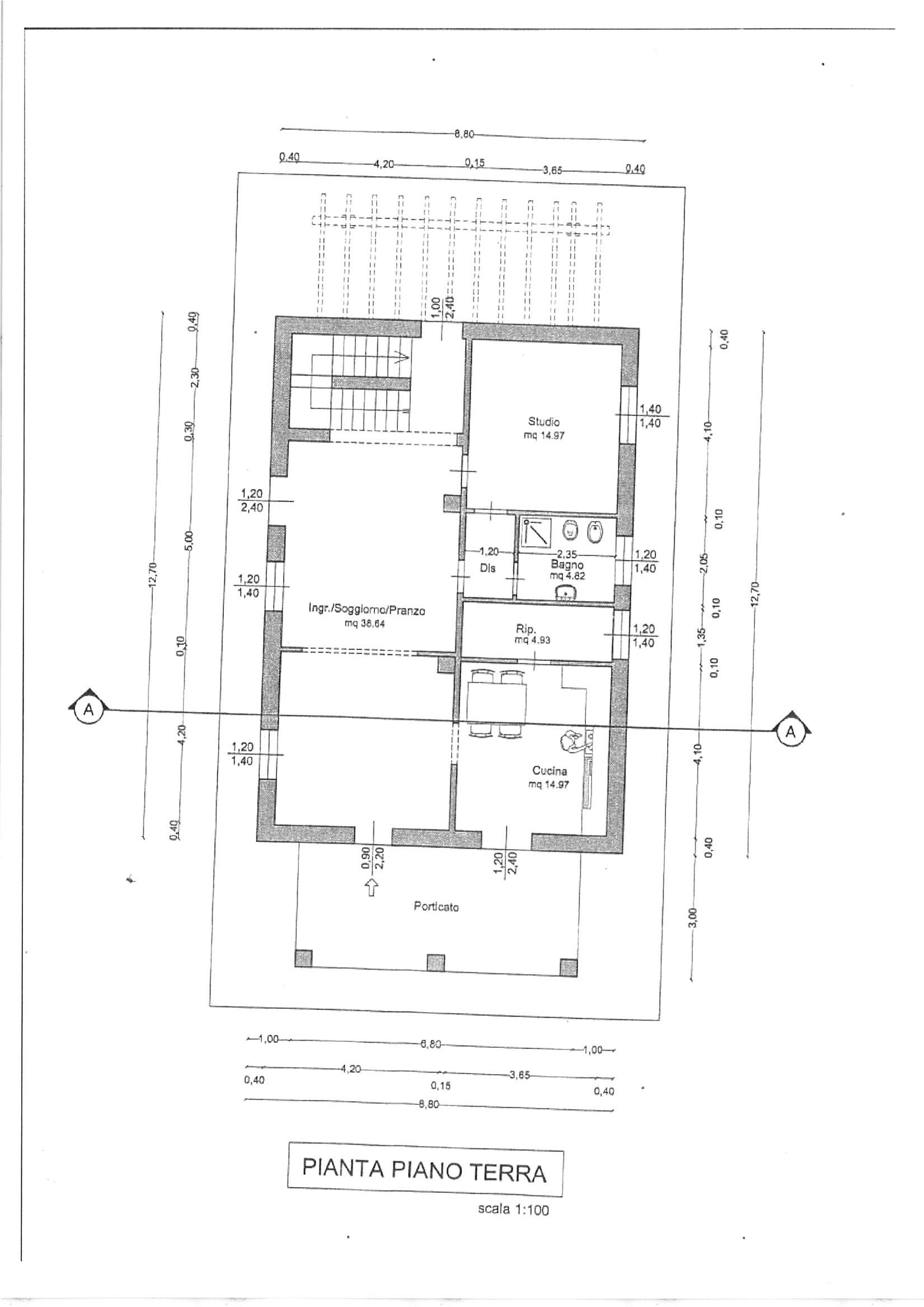 Planimetria 3/4 per rif. vill lam 320