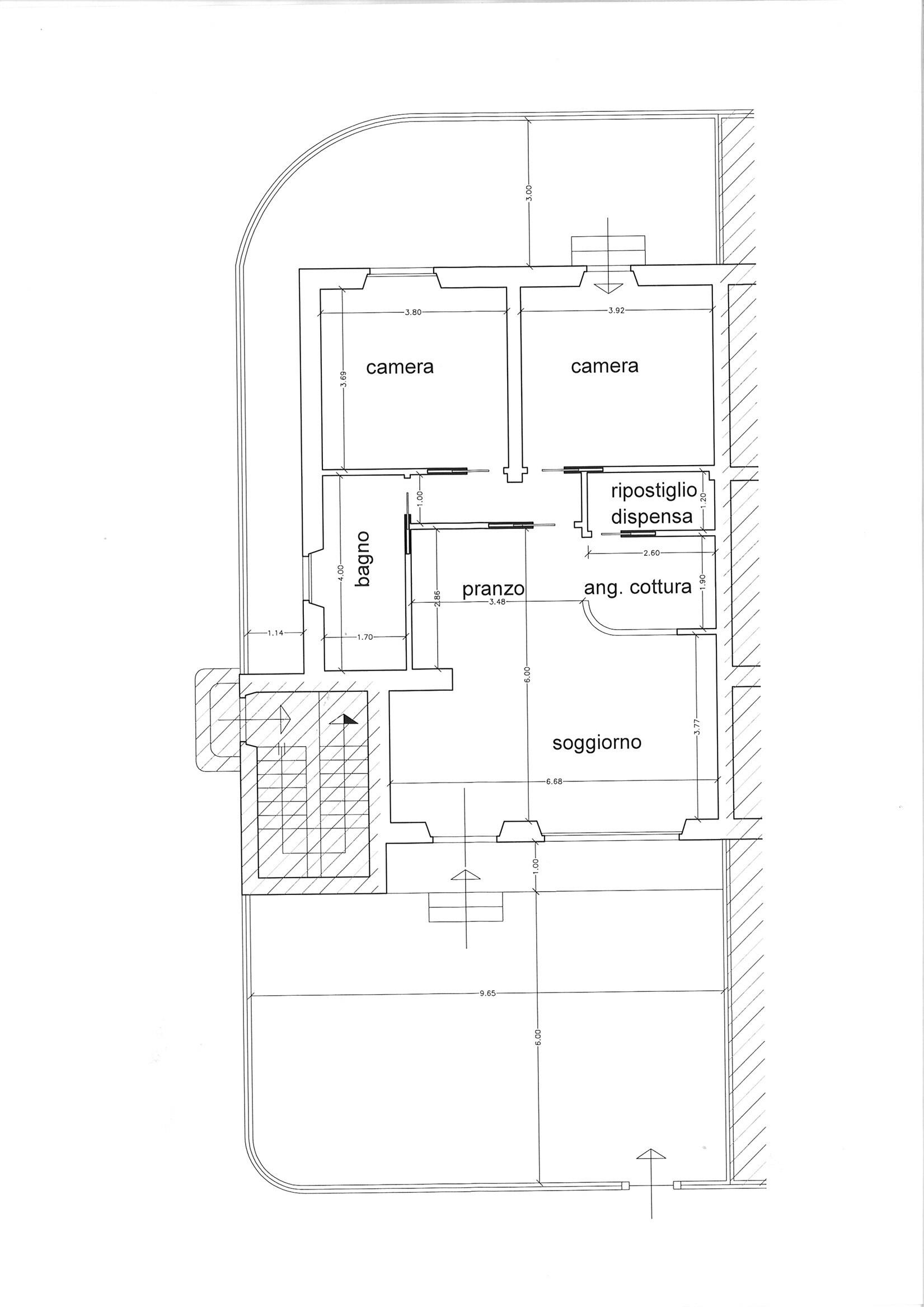 Planimetria 1/1 per rif. ap segr 160
