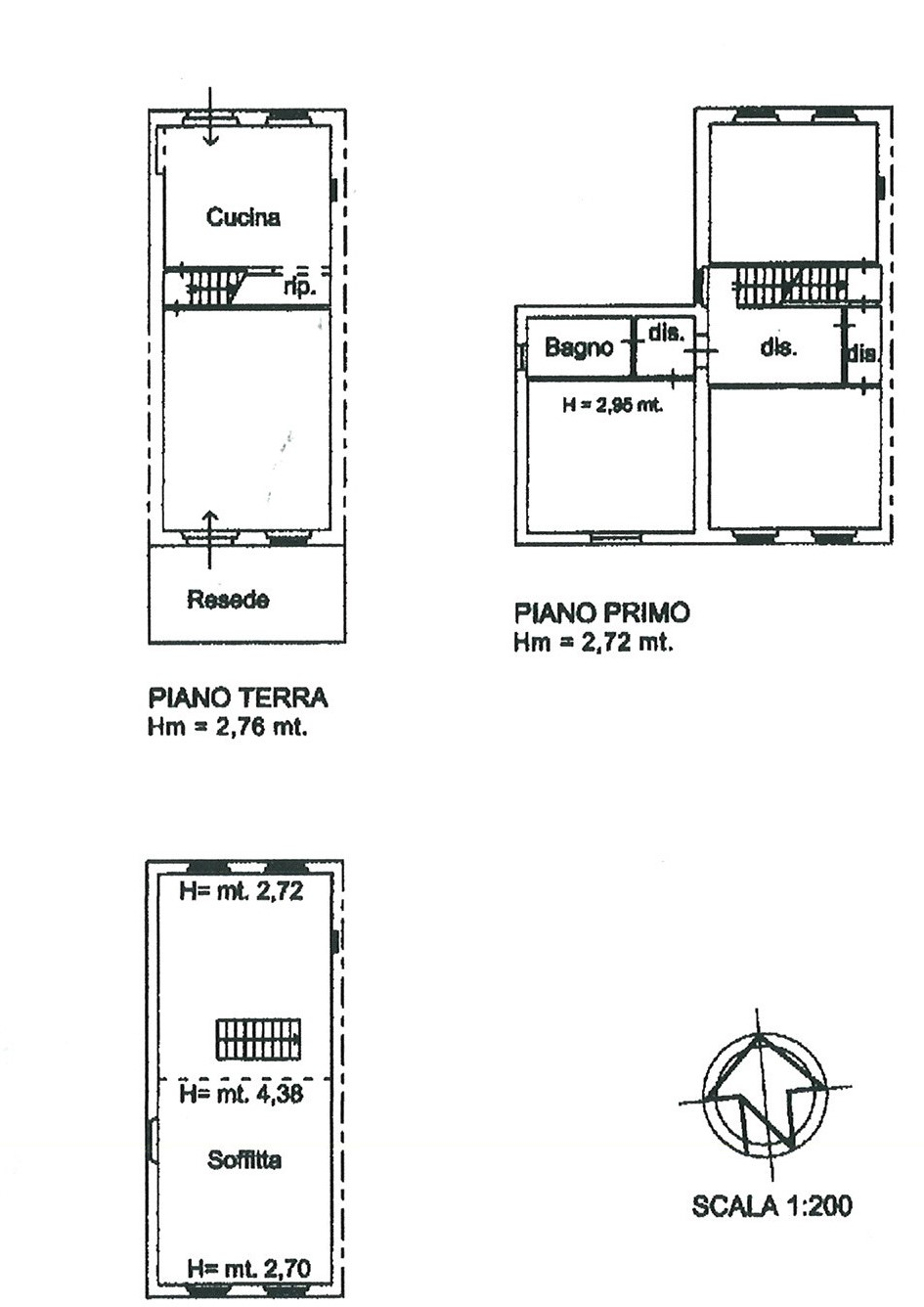 Planimetria 1/1 per rif. trf pare 180
