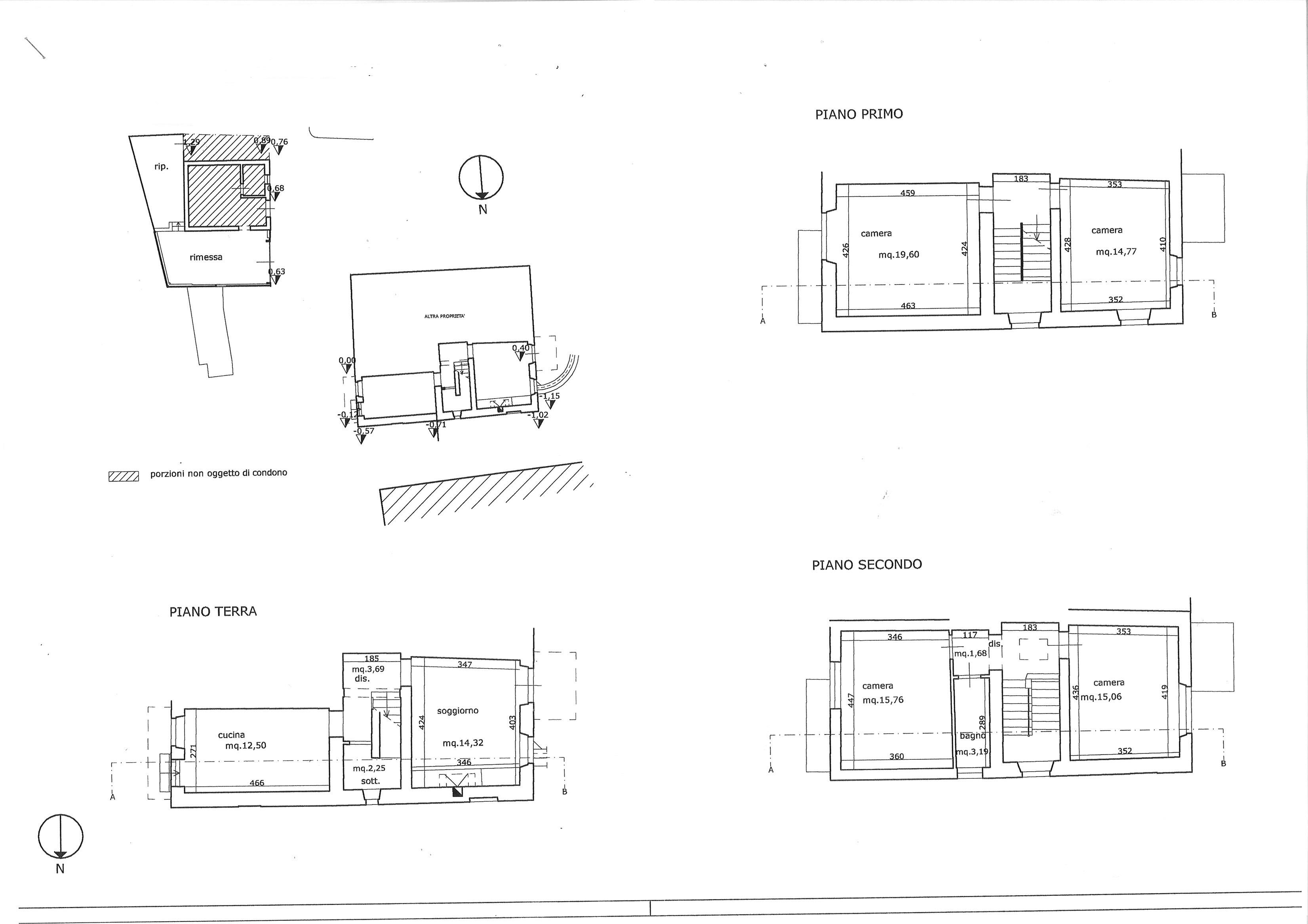 Planimetria 1/1 per rif. trf colle 110