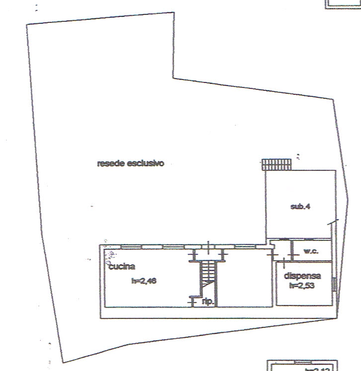Planimetria 1/2 per rif. 2614