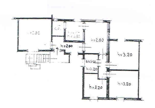 Planimetria 2/3 per rif. 2694