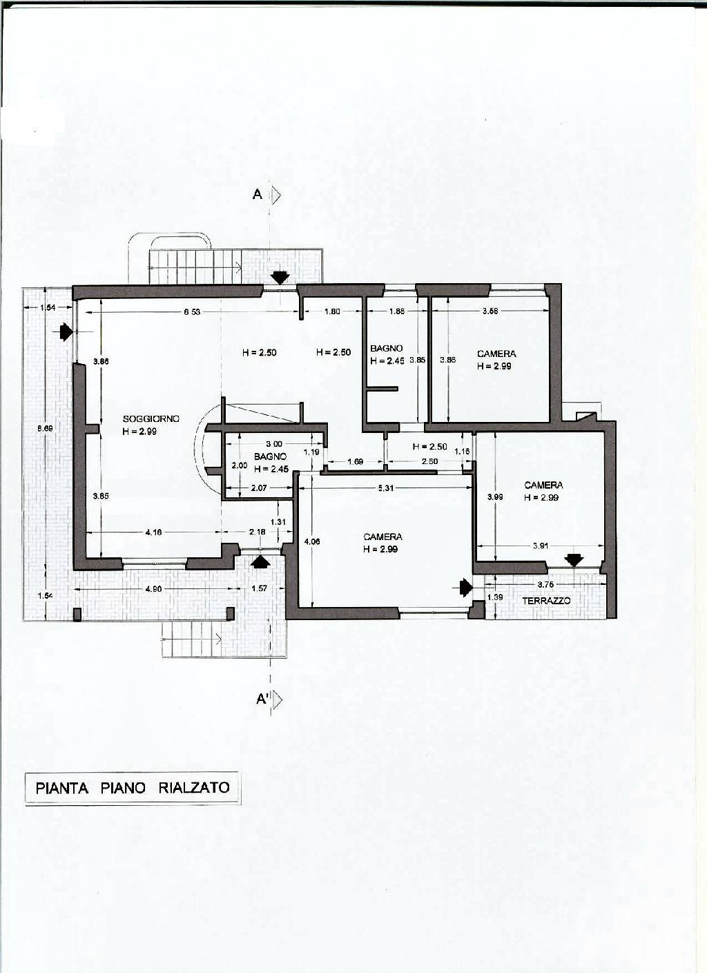 Planimetria 1/2 per rif. IA4528