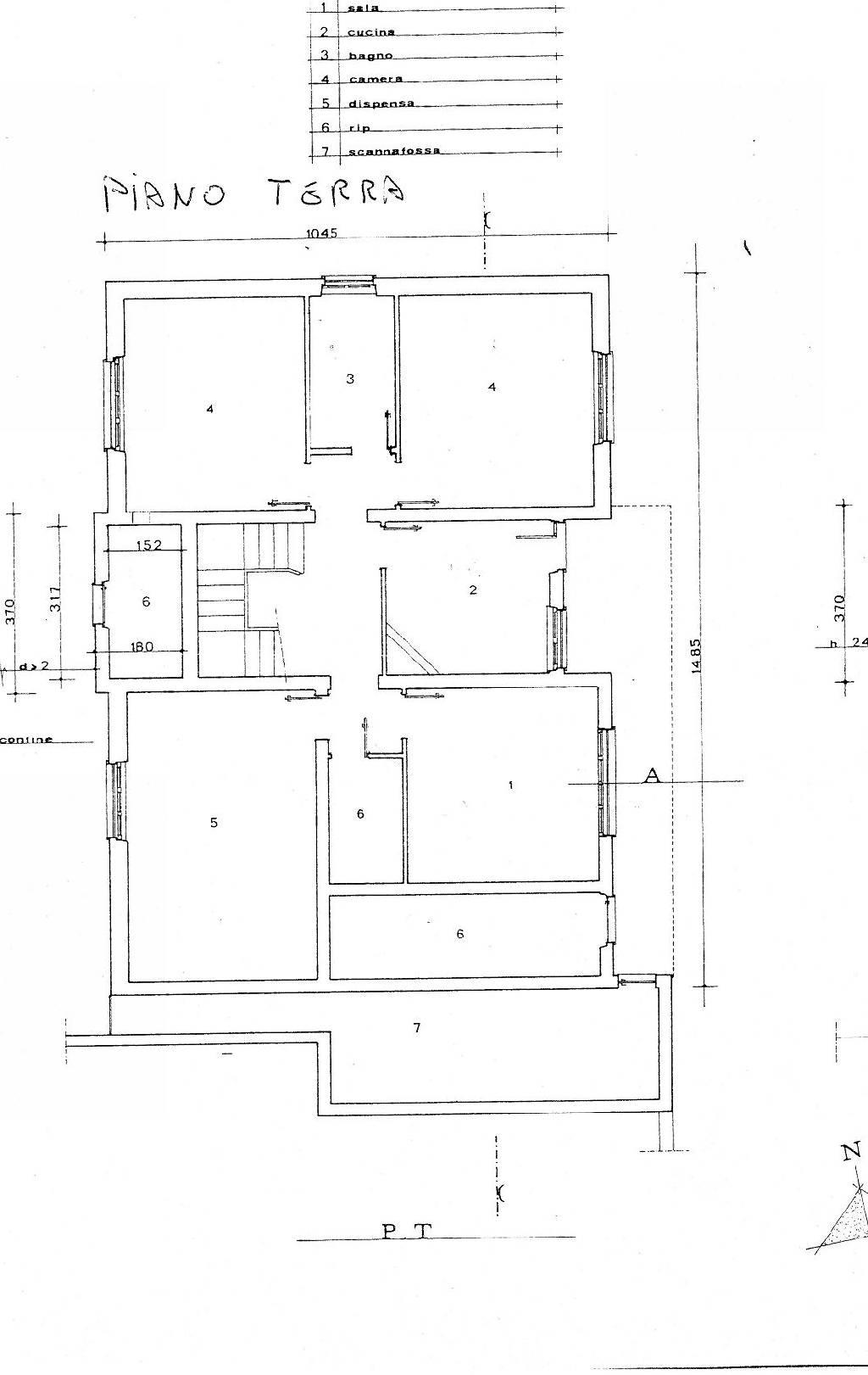 Planimetria 1/3 per rif. IA3737