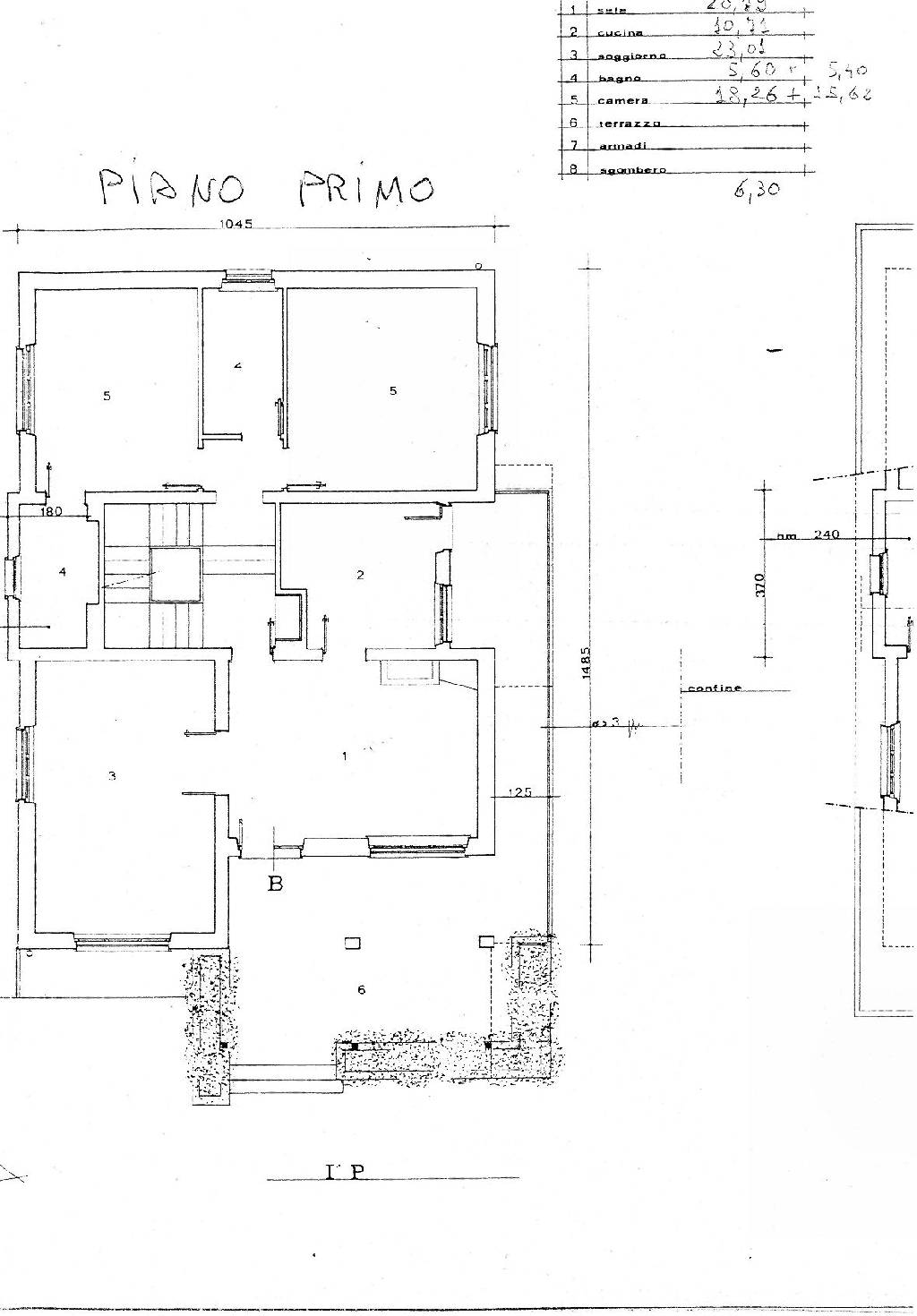 Planimetria 2/3 per rif. IA3737