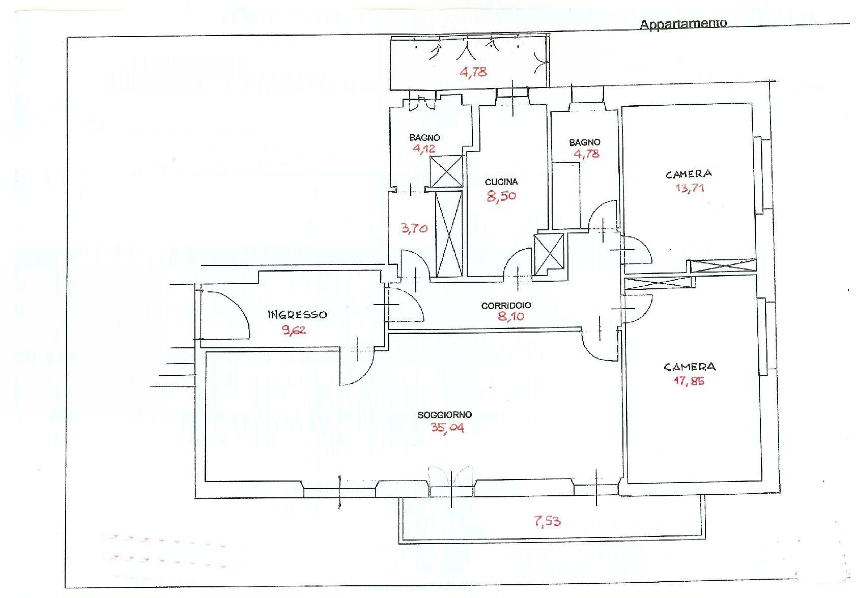 Planimetria 1/1 per rif. AF5206